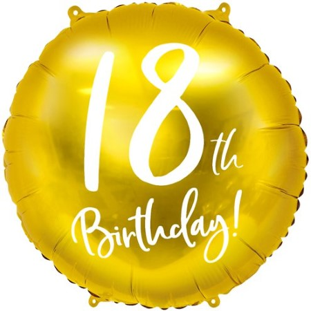 18th Birthday Gold Balloon I 18th Birthday Party Decorations I My Dream Party Shop UK