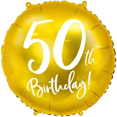 50th Birthday Gold Balloon I 50th Birthday Party Decorations I My Dream Party Shop UK