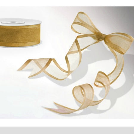 Gold Chiffon Party Ribbon I Modern Party Ribbons I My Dream Party Shop