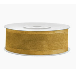 Gold Chiffon Party Decoration Ribbon with Satin Edges 25 Metres, 25mm Thick My Dream Party Shop