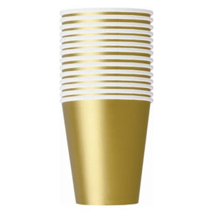 Gold 9oz Paper Party Cups - Pack of 14 - My Dream Party Shop