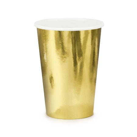 Large Gold Foil Cups I Pretty Gold Tableware & Decorations I My Dream Party Shop I UK