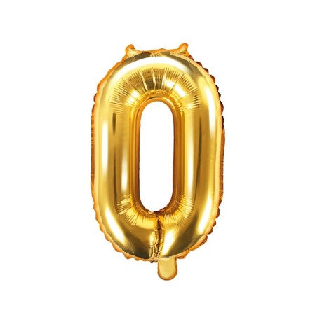 Small Gold Foil Number 0 Balloons I 14 inches I My Dream Party Shop I UK