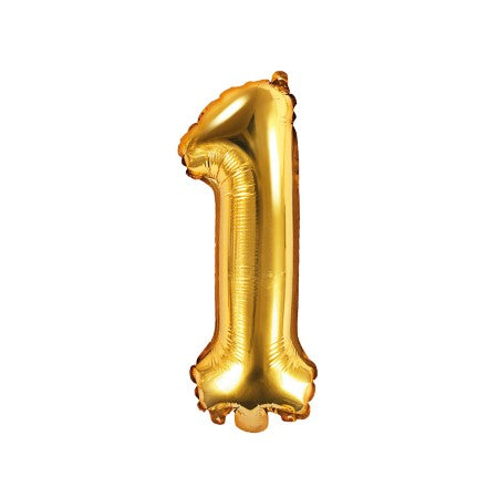 Small Gold Foil Number One Balloons 14 Inches I My Dream Party Shop I UK