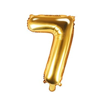 Small Gold Foil Number Seven Balloons 14 Inches I My Dream Party Shop I UK
