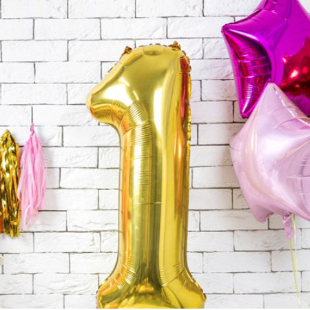 Gigantic Gold Foil Number Balloons 34 Inches I Stunning Foil Balloons I My Dream Party Shop UK