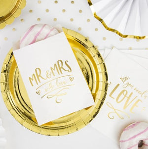 Large Round Gold Foil Paper Party Plates I My Dream Party Shop I UK