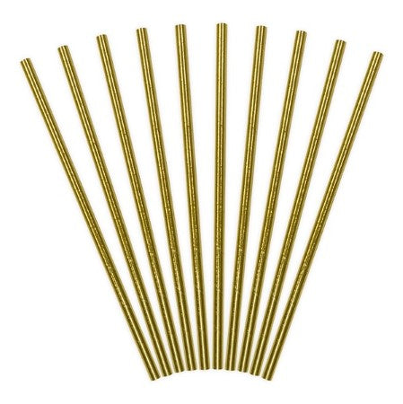 Gold Foil Straws I Pretty Gold Tableware & Decorations I My Dream Party Shop I UK