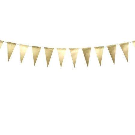 Gold Foil Triangle Wedding Bunting Garland - My Dream Party Shop