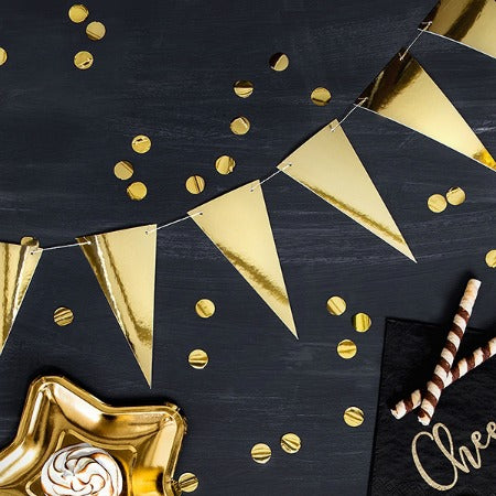 Gold Foil Triangle Party Bunting Garland I Modern Party Bunting I My Dream Party Shop I UK