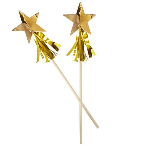 Gold Star Tassel Drink Stirrers I Gold Star with Gold Tassels Set of 8 by Ginger Ray I UK