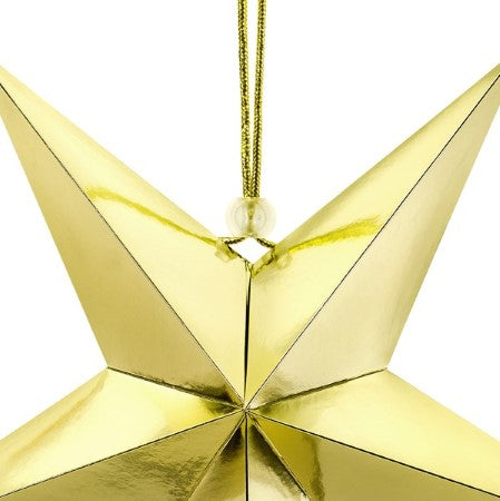 Gold Star Hanging Decoration I Modern Gold Party Decorations I My Dream Party Shop I UK
