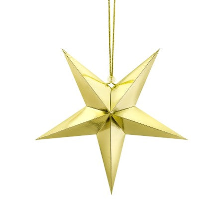 Gold Mirror 5 Point Star Decoration I My Dream Party Shop I UK