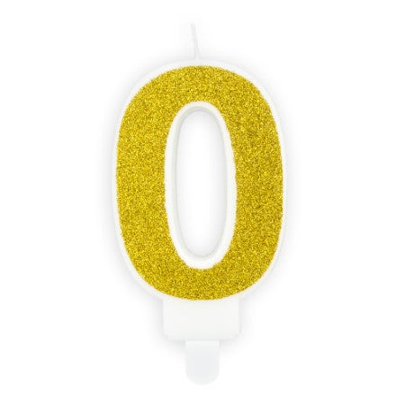 Gold Birthday Candle Numbers I My Dream Party Shop I UK