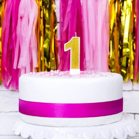 Gold Number Candles I Candle and Cake Accessories I My Dream Party Shop I UK
