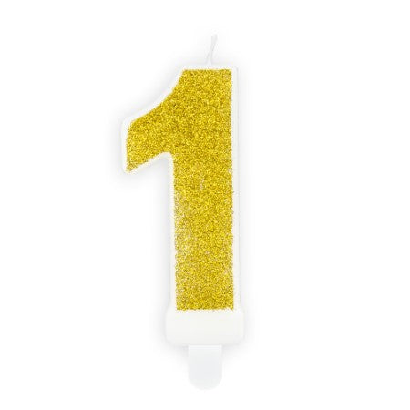 Gold Glittery Birthday Candle Numbers I My Dream Party Shop UK