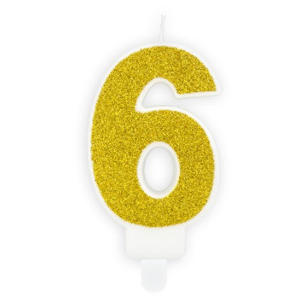 Gold Glittery Birthday Candle Numbers I My Dream Party Shop I UK
