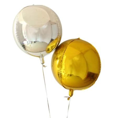 Small Gold Round Orb 4D Foil Balloon I Gatsby Party I My Dream Party Shop I UK