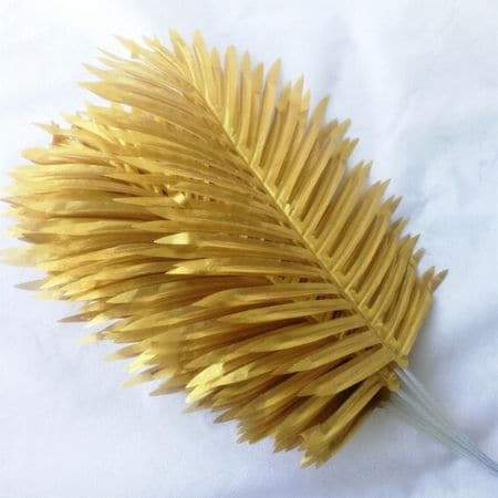 Artificial Gold Palm Leaves I Floral Party Decorations I My Dream Party Shop I UK
