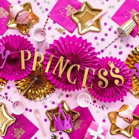Gold Princess Garland I Stunning Princess Party Decorations I My Dream Party Shop UK