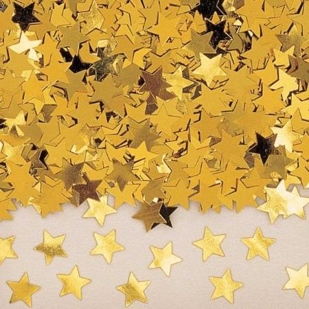 Gold Star Metallic Confetti 30g I Stunning Christmas Party Table Decorations I My Dream Party Shop I UK