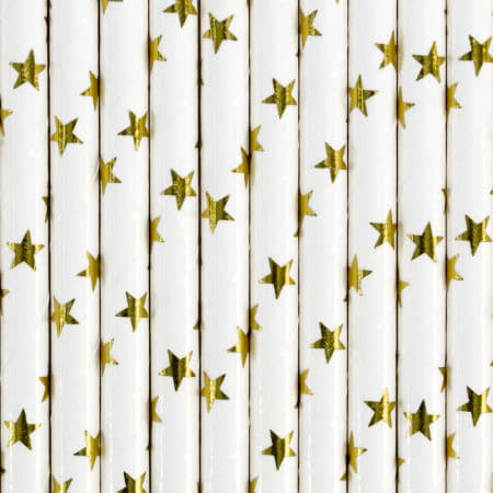 Gold Star Straws I Modern Gold Party Supplies I My Dream Party Shop I UK