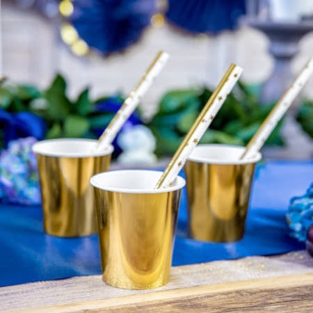 Gold Star Straws I Modern Christmas Party Supplies I My Dream Party Shop I UK