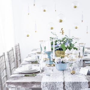 Gold Table Numbers - My Dream Party Shop