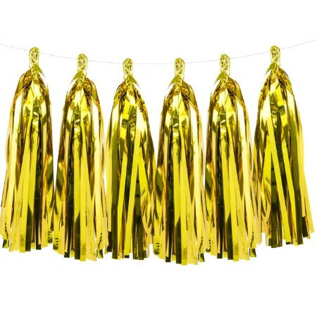 Gold Foil Tassel Garland - My Dream Party Shop