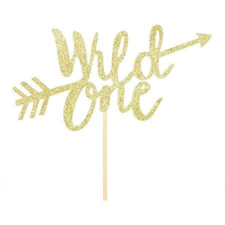 Gold Wild One Cake Topper I Wild One Party Decorations and Tableware I My Dream Party Shop UK