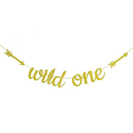 Gold Wild One Garland I Wild One Party Decorations I UK