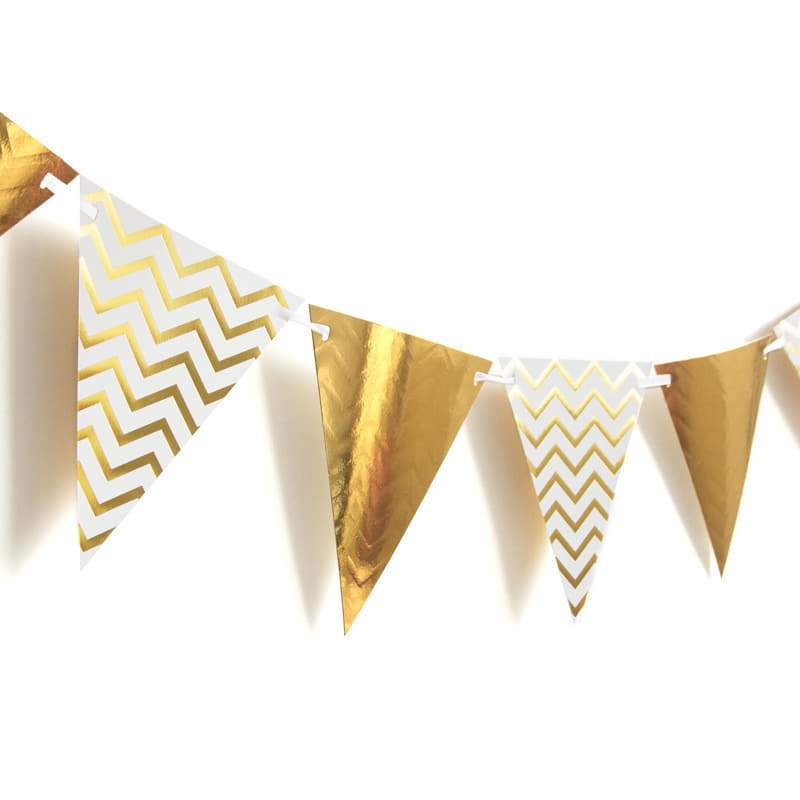 Gold and White Bunting I Stunning Gold Decorations I UK