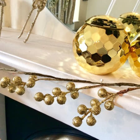Gold Glitter Mistletoe Garland I Gorgeous Christmas Decorations I UK