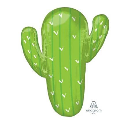 Green Cactus Supershape Balloon 31 inches I Cool Foil Balloons I My Dream Party Shop UK