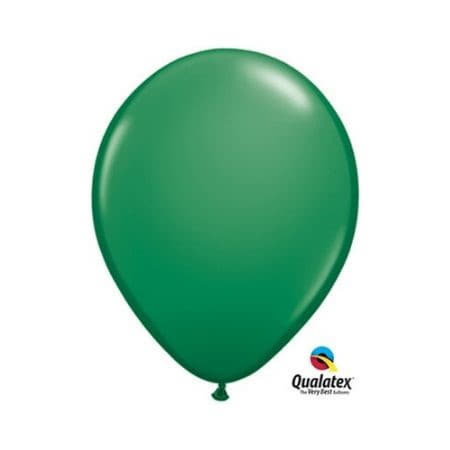 Green 11 Inch Balloons by Qualatex I Green Party Balloons I UK