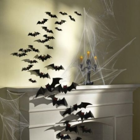 Black Bat Cutouts Pack of 30 I Halloween Party Decorations I My Dream Party Shop