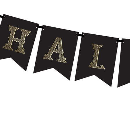 Black and Gold Halloween Party Garland I Cool Halloween Party Decorations I My Dream Party Shop I UK