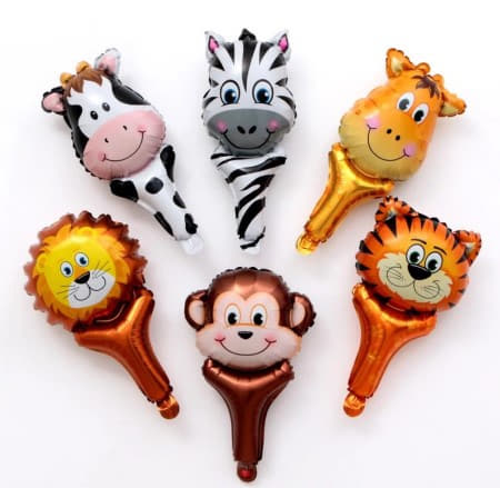 Handhold Jungle Animal Balloons Set of 6 I Jungle Balloons I My Dream Party Shop I UK