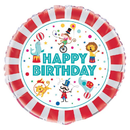 Happy Birthday Circus Balloon I Circus Party I My Dream Party Shop