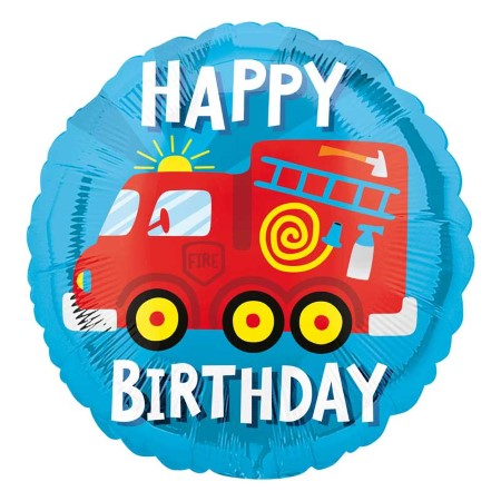 Happy Birthday Fire Engine Balloon I Happy Birthday Balloons I My Dream Party Shop