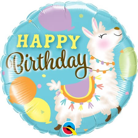 Happy Birthday Llama Balloon I Llama Party Balloons I My Dream Party Shop UK