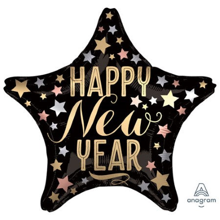 Satin Stars Happy New Year Balloon I New Year's Eve Balloons I My Dream Party Shop