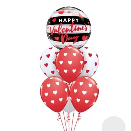 Happy Valentines Day Cluster I Helium Inflated for Collection Ruislip I My Dream Party Shop