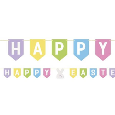 Happy Easter Pastel Bunting I Easter Party Decorations I My Dream Party Shop UK