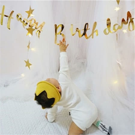 Gold Foil Happy Birthday Garland I Cool Birthday Party Decorations I My Dream Party Shop I UK