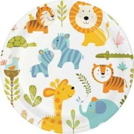 Happy Jungle Animal Party Plates I Wild One or First Birthday Party Decorations and Tableware I My Dream Party Shop I UK