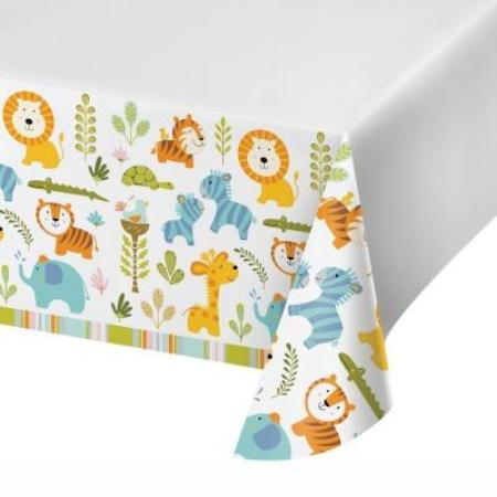 Happy Jungle Animal Table Cover I First Birthday Party Tableware I My Dream Party Shop UK