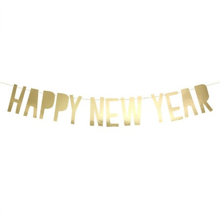 Gold Foil Happy New Year Bunting Garland - My Dream Party Shop