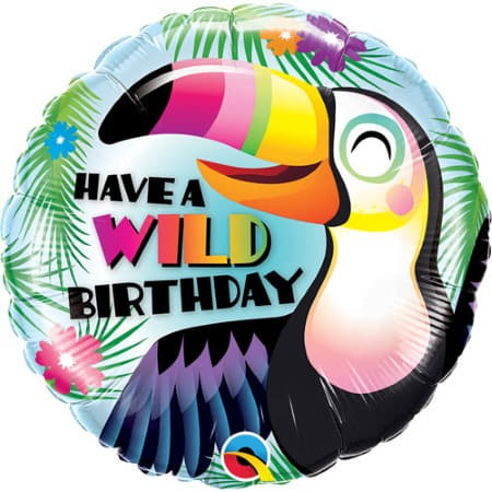 Have a Wild Birthday Toucan Balloon I Tropical Party Supplies I My Dream Party Shop