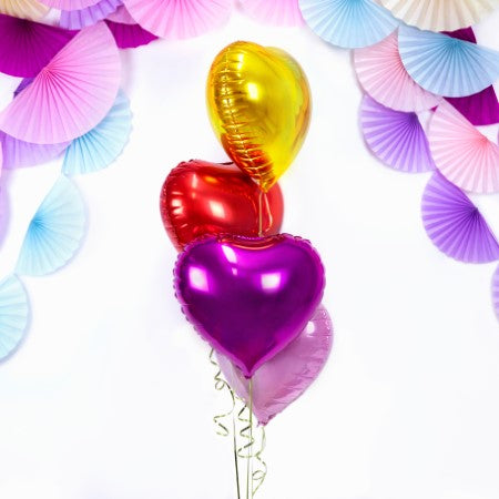 Dark Pink Metallic 18 Inch Heart Foil Balloon I Foil Balloons in All Shapes and Colours I My Dream Party Shop I UK